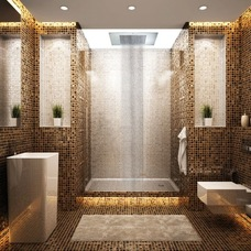AquaBrass Tile bathroom--home-design