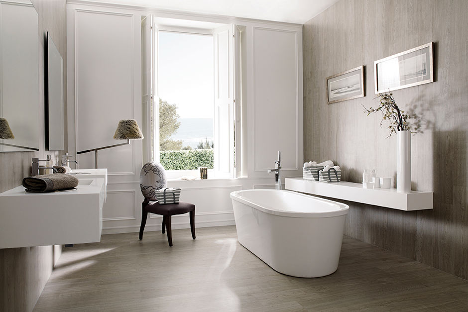 Porcelaosa Wood Porcelain - Quick Tips to Get a Modern Bathroom with Porcelanosa